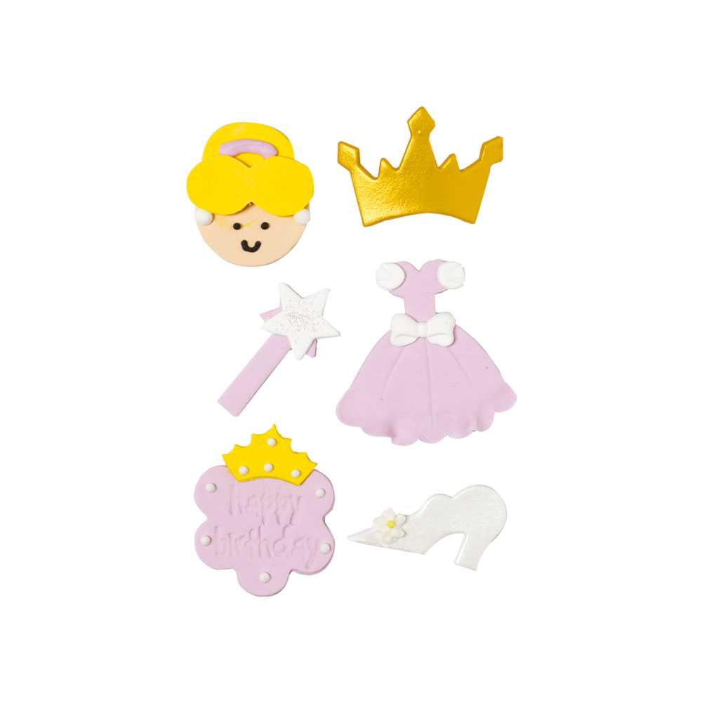 Decoratiuni zahar Printesa roza  6 buc/set 0500294 DER