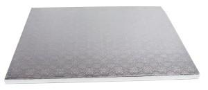 Platformă tort dreptunghiulara argintie 35x45cm SMT