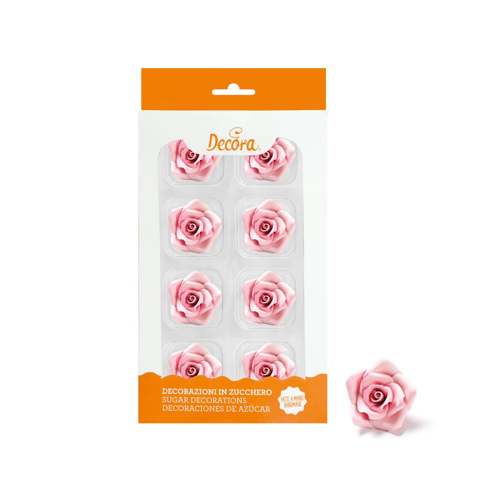 Trandafir zahar mediu roz 8 buc 500372 DER