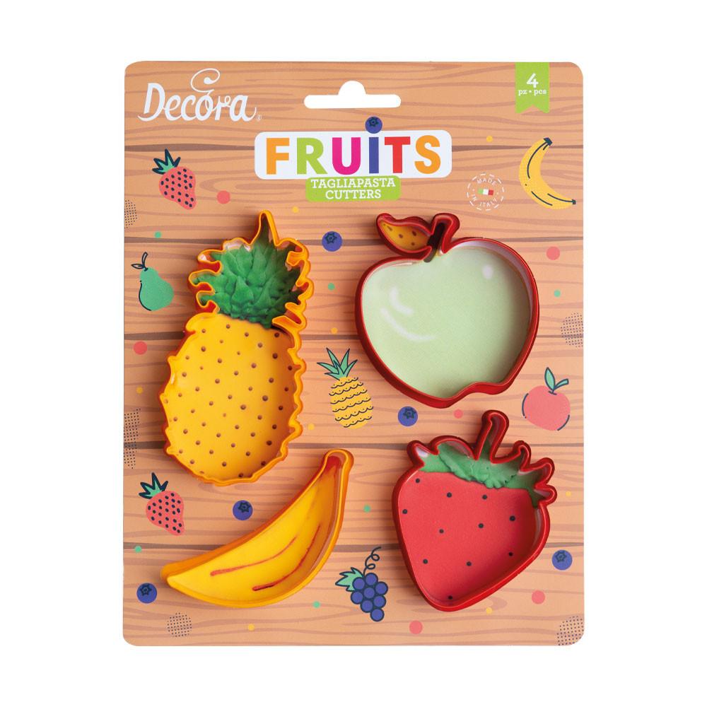 Set 4 decupatoare fructe 0255041 DER