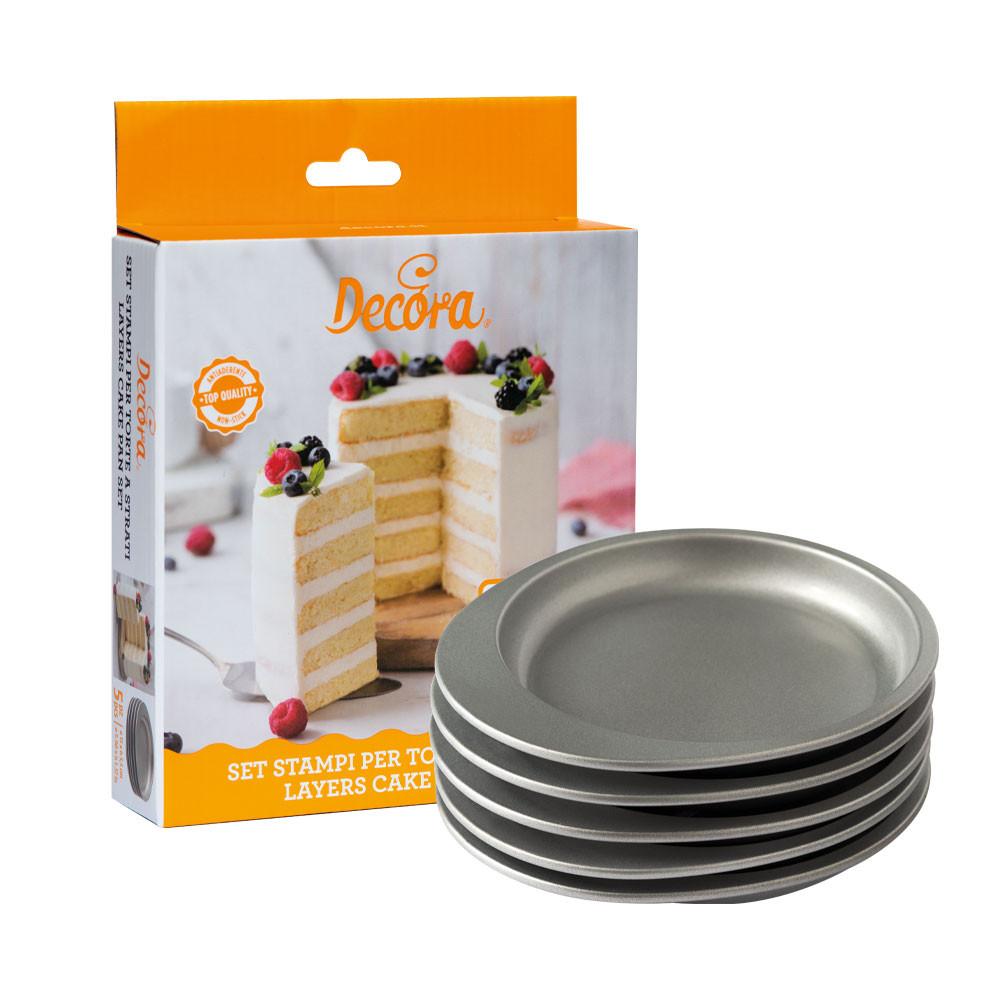 Tava rotunda coacere tort 15 x H 3,5 cm, Set 5 buc 0070033 DER