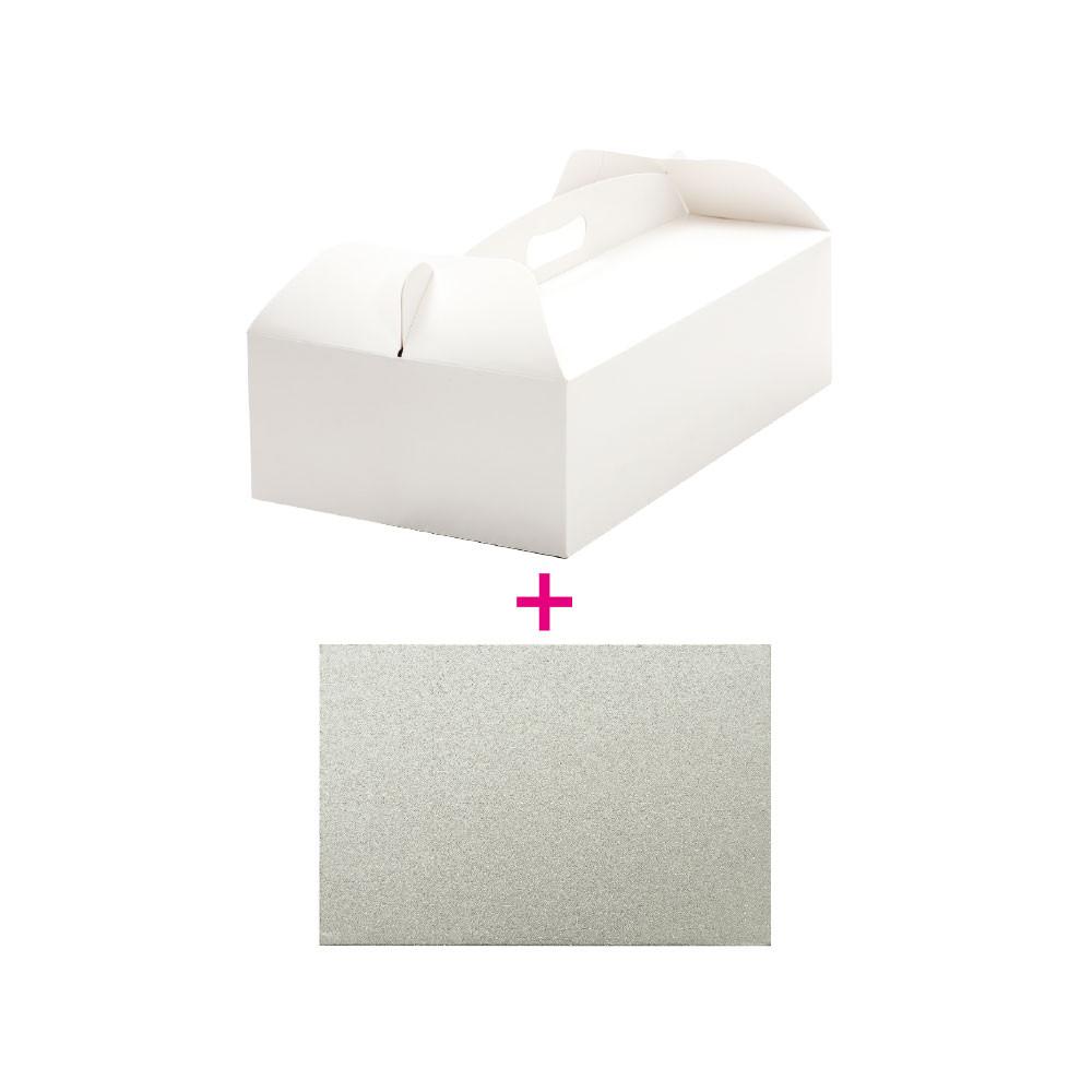 Set cutie tort 31x16x12h cm/suport tort Ø cm 31x16x H3 mm 0340111 DER