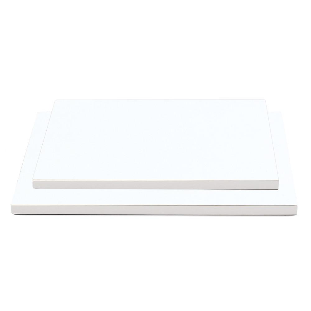 Platou tort alb 40x60x1,2H cm 931382 DER