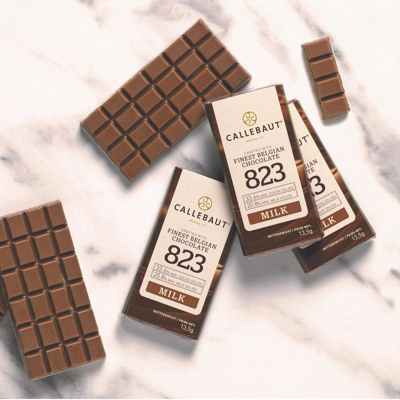 Minitablete ciocolata cu lapte 13,5g  1buc Callebaut