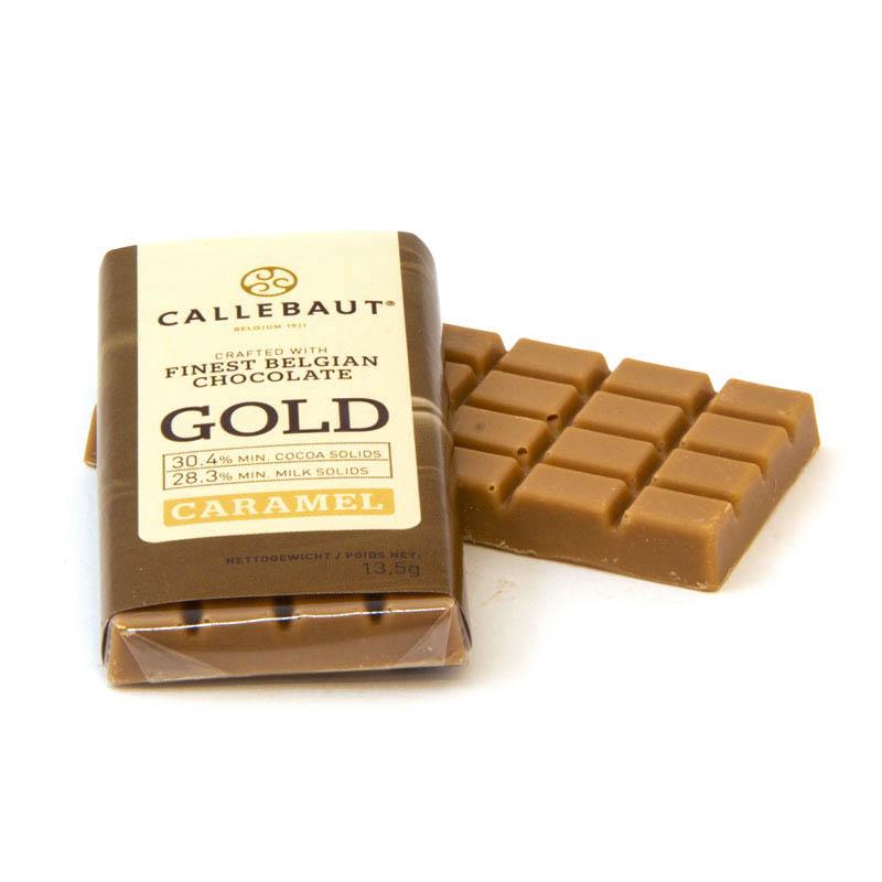 Minitablete ciocolata GOLD  13,5g 1 buc Callebaut