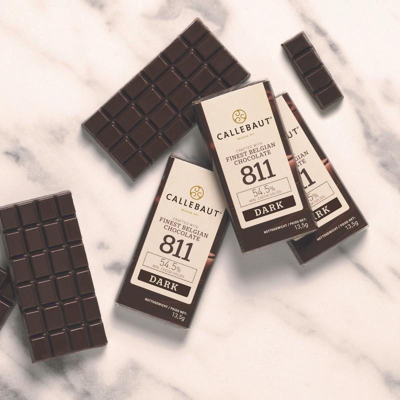Minitablete ciocolata neagra 54,5% cacao 13,5g Callebaut