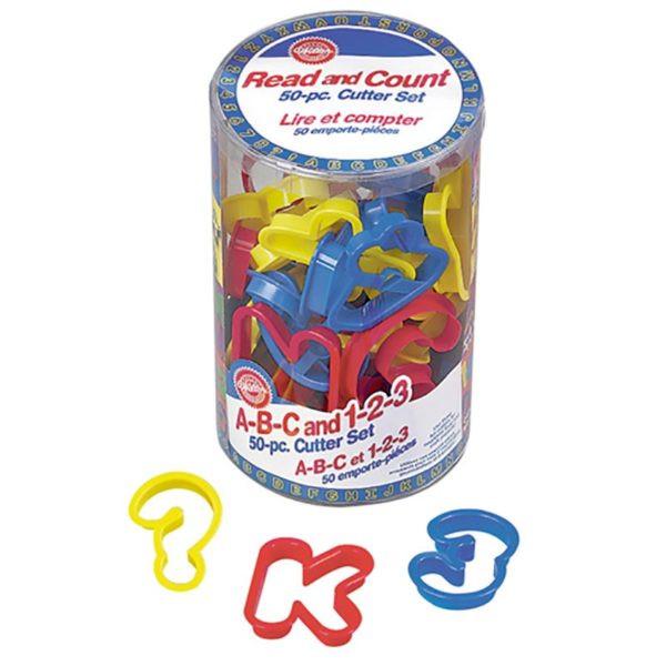 Decupatoare plastic cifre,alfabet si simboluri  50 buc 261711 DER