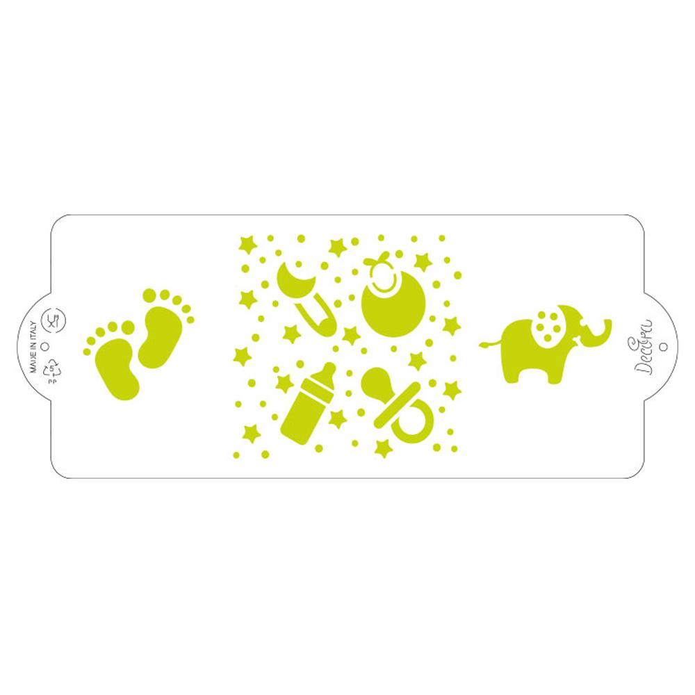 Sablon Plastic Lateral Decor Baby 10x25 cm 9270916 DER