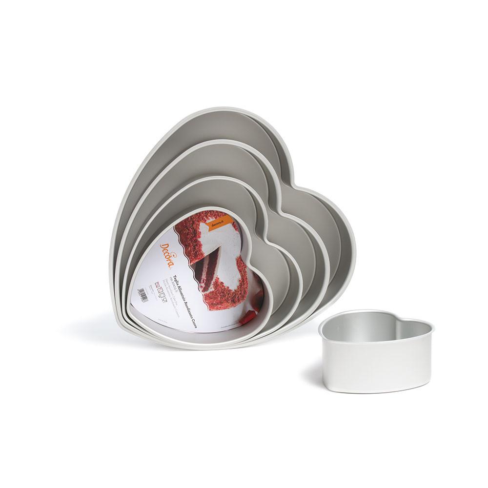 Tava aluminiu anodizat inima 20 x H 7,5 cm 0062669 DER