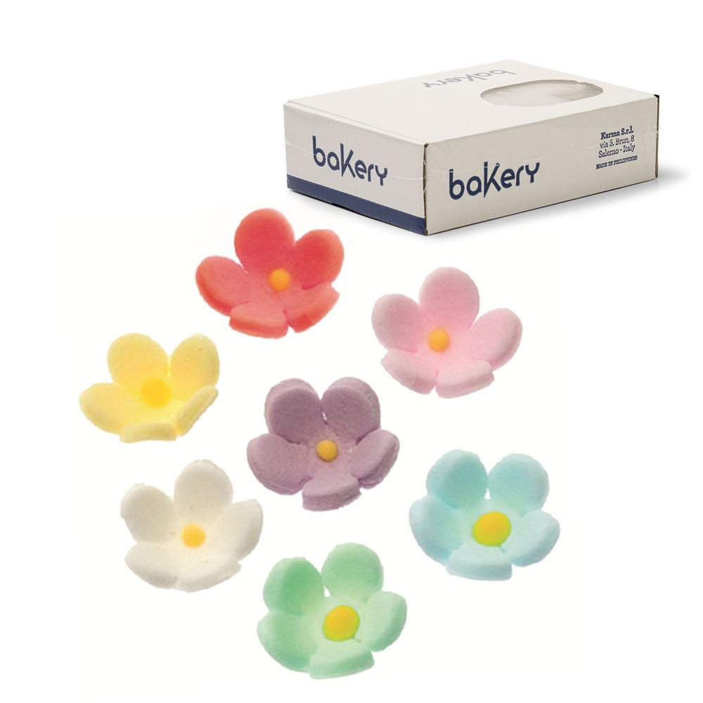Decoratiuni zahar flori medii colorate (300 buc) 500024 DER