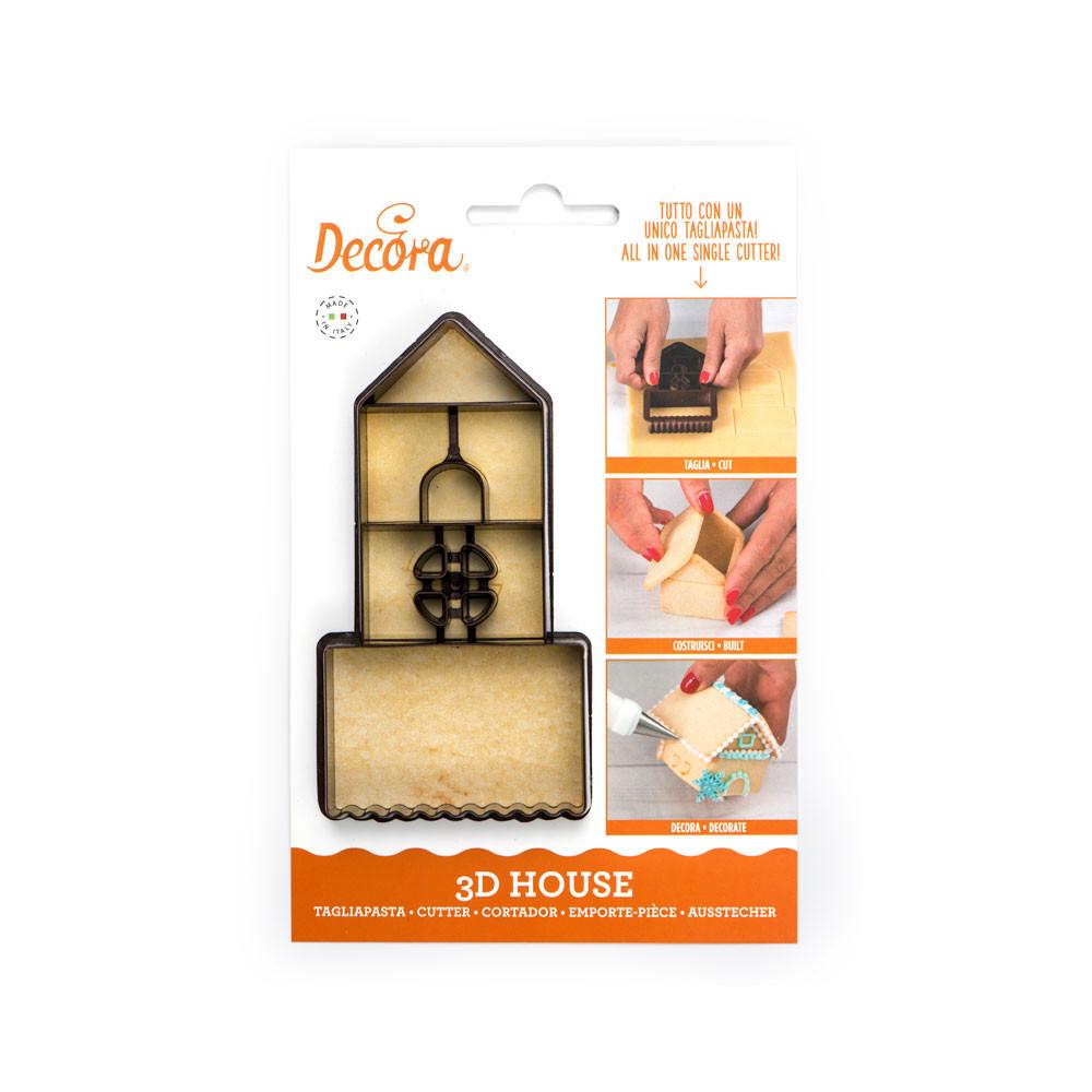 Decupator plastic biscuiti 3D House 255050 DER