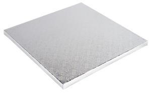 Platformă tort patrata argintie 25x25cm SMT