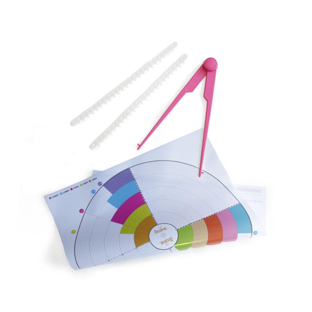 Set decorare tort compas si covoras grafic 9271044 DER