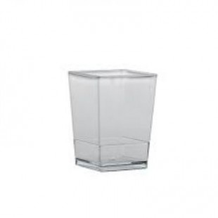 Pahar din plastic patrat PMOCU002 (100 buc)