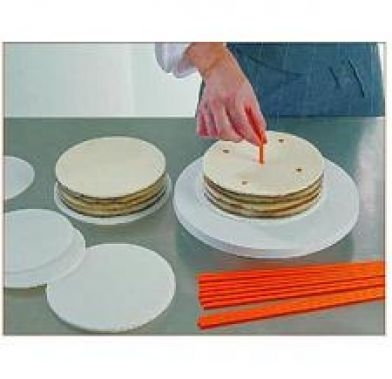 Suport din plastic ROUND CAKE BOARDS D.30 20 buc/set 40-W063