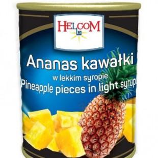 Ananas in sirop 580 ml 24 borcane/cutia Helcom GT