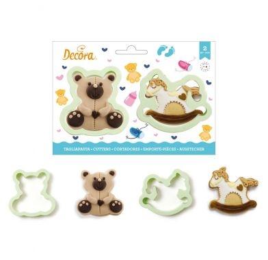 Decupatoate din plastic TEDDY BEAR 2 buc/set 0255195 DER