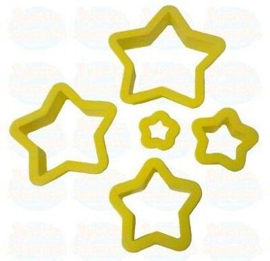 Decupatoate din plastic 5 STAR 5 buc/set 0255312 DER