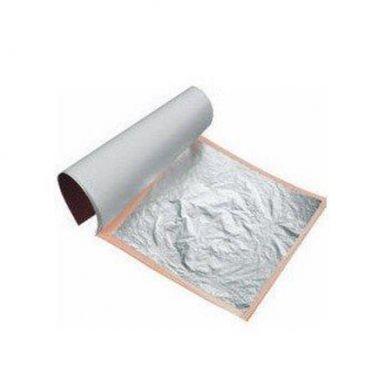 Frunze argint comestibile 86x86mm  5buc/set 9570105 DER