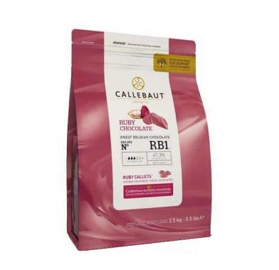 Pastile de ciocolata roz RUBY 2,5g CHR-R35RB1-E4-U70 BARRY