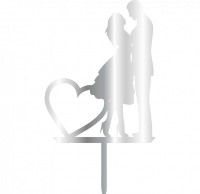 Topper - Woman&Man Heart 110x200 mm 14058 CSL