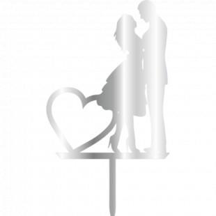 Topper - Woman&Man Heart 110x200 mm 14058 CSL
