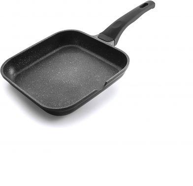 Tigaie grill patrata neteda ECO-PIEDRA 24x24 cm 24123_LAC