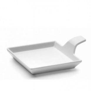 Platou pentru delicii alb CLASIC 9,5x9,5 cm 63609_LAC