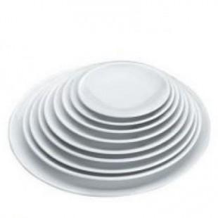 Platou rotund alb d 20 cm H 2,5cm   62762_LAC