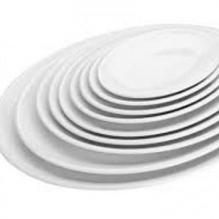 Platou oval alb 33.5x25.8x2.6 cm   62756_LAC