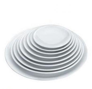 Platou rotund alb d 25,4 cm H 2,9 cm   62764_LAC