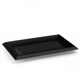 Platou negru dreptunghiular CLASIC 26x16x2 cm 63541_LAC