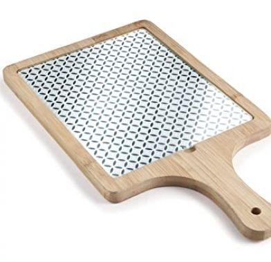 Tabla din sticla si bambus 38.5x21.5x1.5 cm 61048_LAC