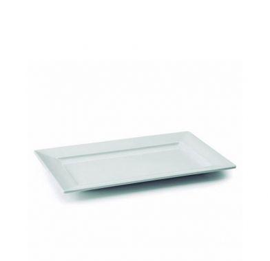 Platou alb dreptunghiular CLASIC 26x16x2 cm 63531_LAC