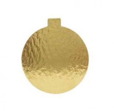 Platou auriu rotund din carton prajituri D 10 cm 200 buc  3CA2300101_BND