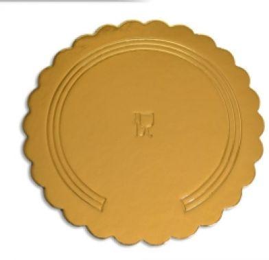 Platou auriu rotund din carton ref. D 22 cm 25 buc  3CA2308822_BND