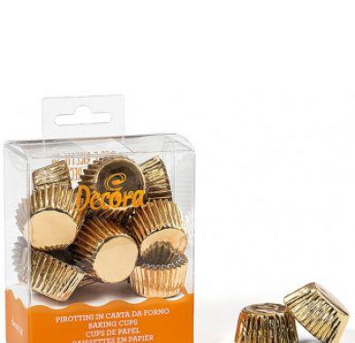 Set 180 forme de copt muffin BON BON GOLD 27x17 MM 0339792 DER
