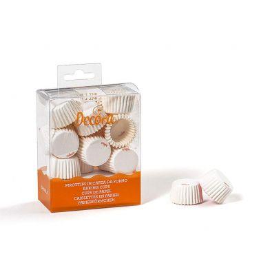 Set 200 forme de copt muffin BON BON ALB 27x17 MM 0339754 DER