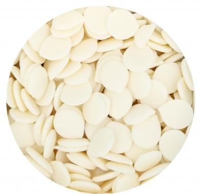 Pastile din ciocolata alba Belgiana 28% 250 gr.