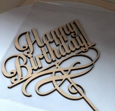 "Topere din placaj ""Happy Birthday"" SGM"