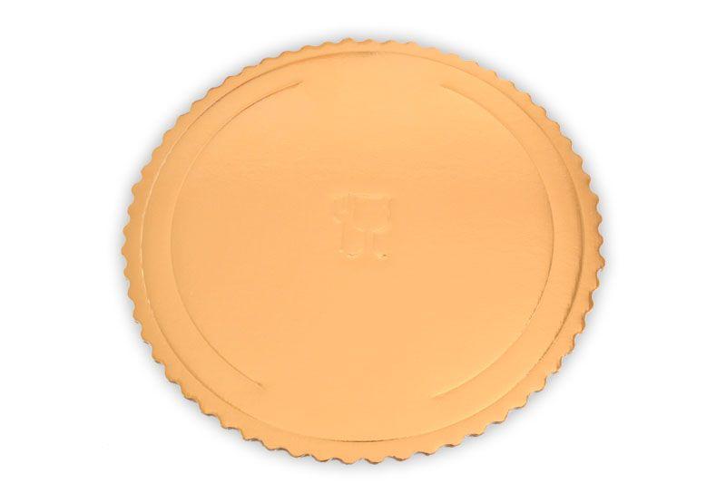 Platou auriu rotund din carton ref. D 34 cm 25 buc  3CA2308834_BND