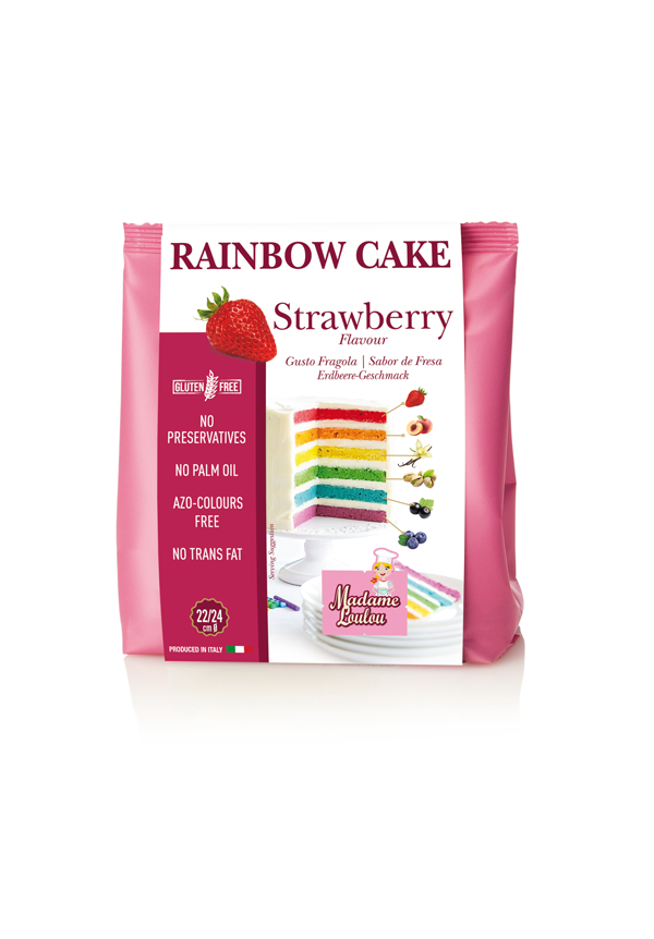 Premix RAINBOW CAKE STRAWBERRY 100g ML8055 MADAM