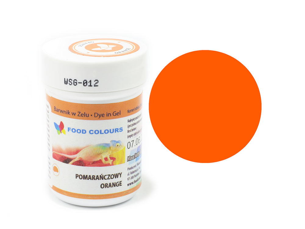 Colorant alimentar in gel oranj 35g WSG-012  FC