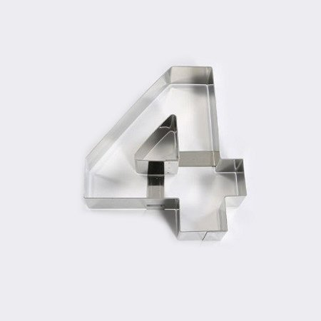 "Forma din inox ""Cifra 4"" 40H4X04"