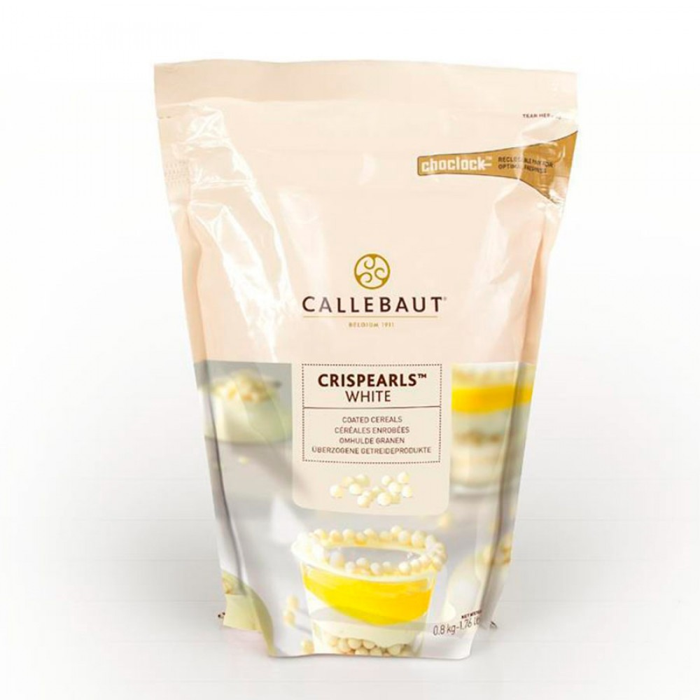 Orez expandat in ciocolata alba 0,8 kg CEW-CC-W1CRISP-W97/CEW-CC-W1CRIE0-W97 (P) BARRY