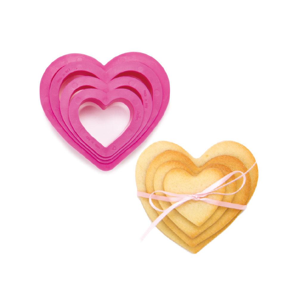 Decupatoare din plastic HEART 4 buc in set 0255305 DER