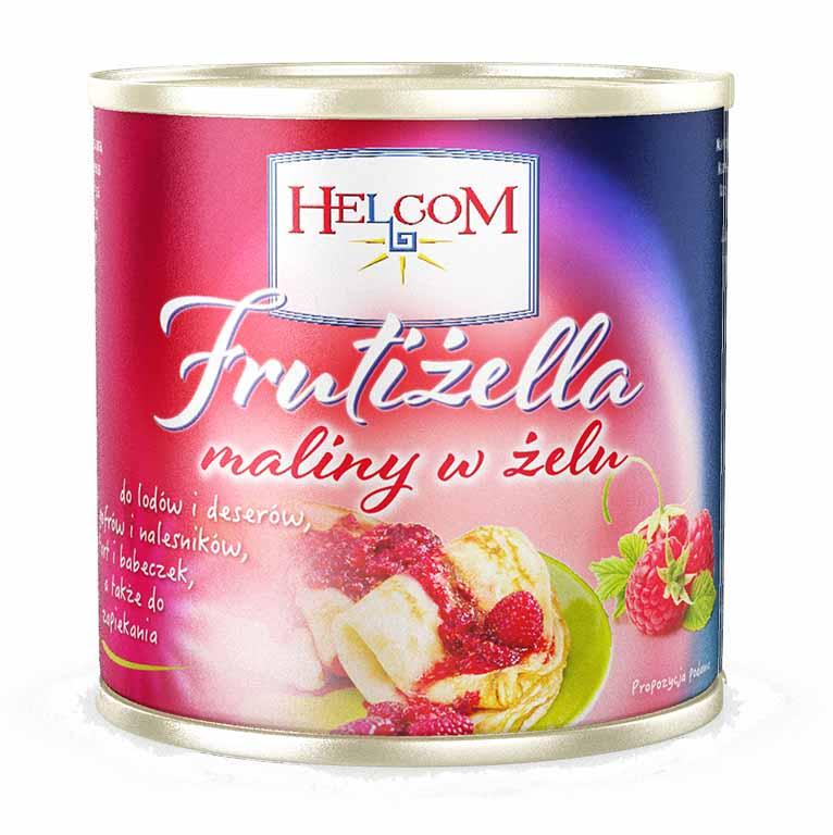 Zmeura in gel 320 g 8 borcane/cutia HELCOM GT