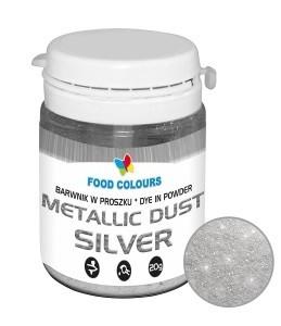 Colorant alimentar praf liposolubil 20g argintiu WS-P-130 FC