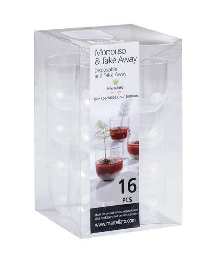 Pahare din plastic 47 ml (set 16buc) PMOJA0011600