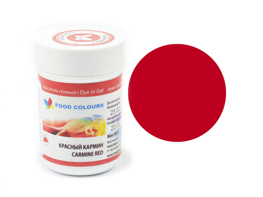 Colorant alimentar in gel rosu-carmin 35g WSG-032 FC